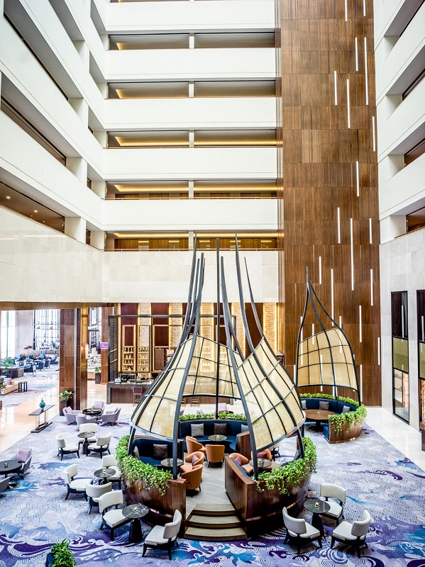beautiful lobby lounge with natural lights at intercontinental hanoi landmark72 hanoi city hotel