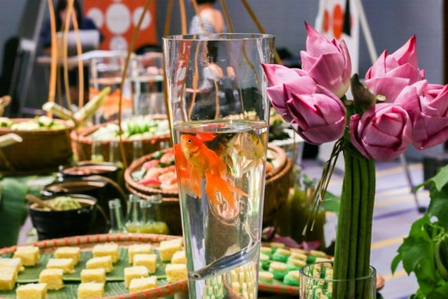 Vietnamese theme tea break at luxury hotel meeting, near Hanoi National Convention Center