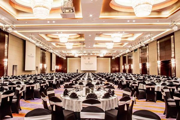 luxurious grand ballroom at hanoi city hotel