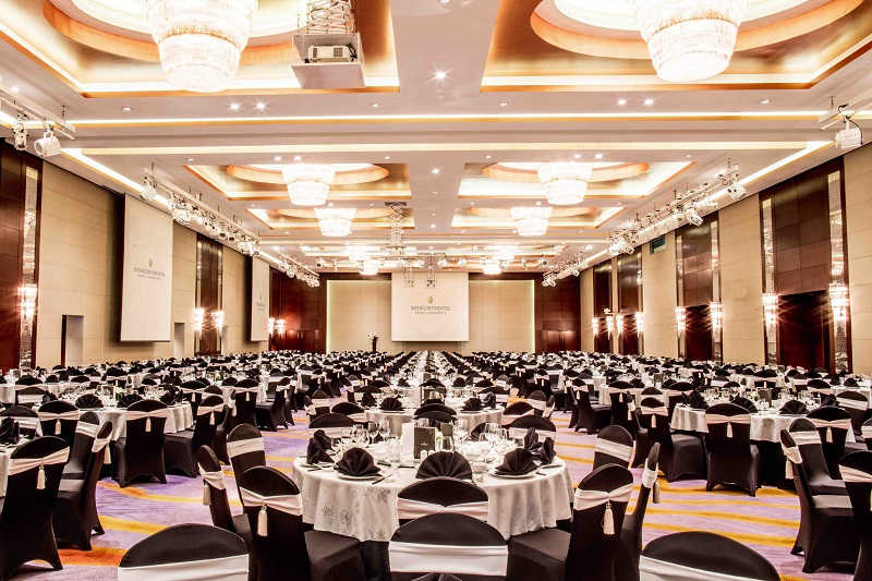 grand ballroom at hanoi luxury hotel