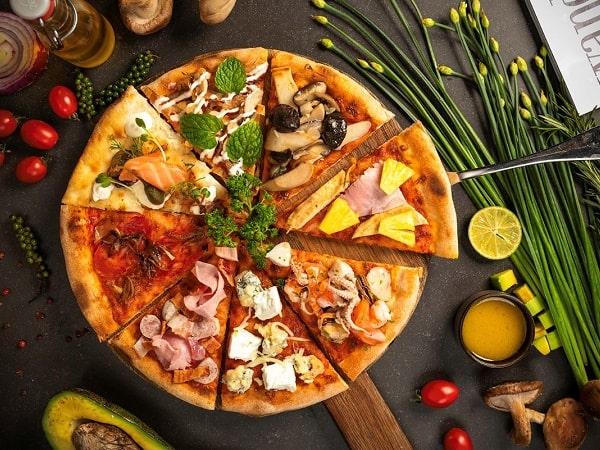 Món pizza vị tổng hợp của nhà hàng buffet tại Hà Nội