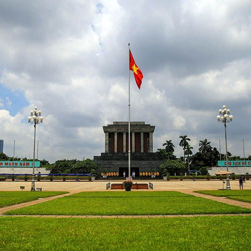 Ho Chi Minh mausoleum around Hanoi hotel