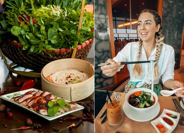 local cuisine in a Hanoi city hotel