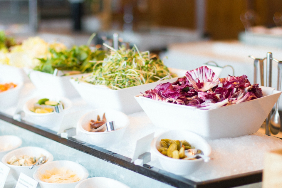 fresh organic salad buffet 5-star hotel hanoi