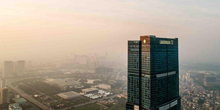 toàn cảnh bên ngoài intercontinental hanoi landmark72 khách sạn 5 sao sang trọng cao nhất hà nội