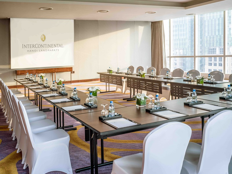 meeting room filled with natural lighting at hanoi city hotel