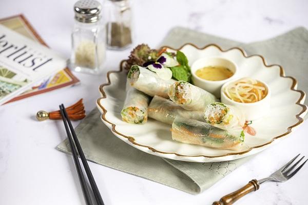Vietnamese and Chinese cuisine at a luxury restaurant at InterContinental Hanoi Landmark72, the tallest hotel in Hanoi