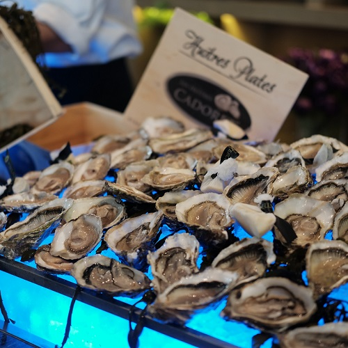 fresh oyster for Sunday buffet brunch in Hanoi