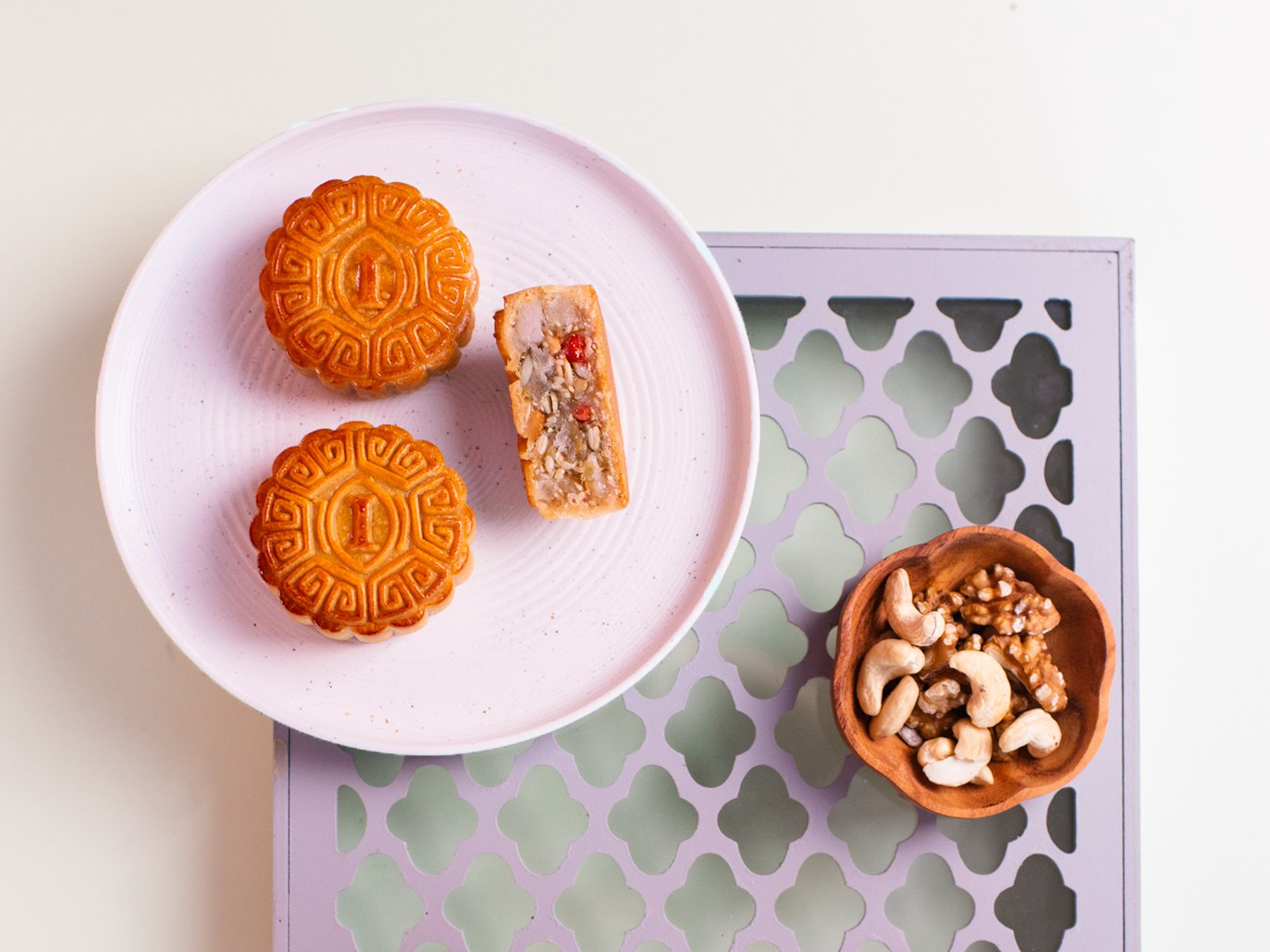 mooncake mixed flavour