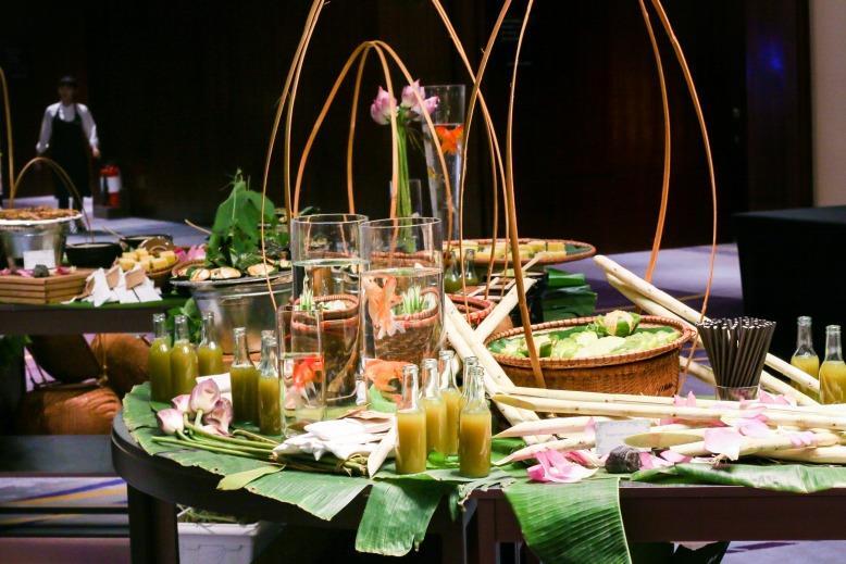 Vietnamese traditional theme meeting break at 5 star hotel, in Keangnam Landmark72 tower Hanoi