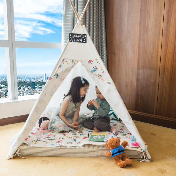 kids playing at hanoi family hotel room intercontinental hanoi