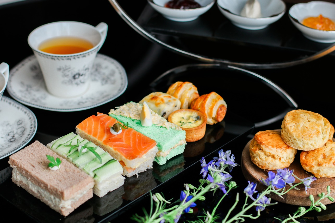 intercontinental hanoi afternoon tea sandwich