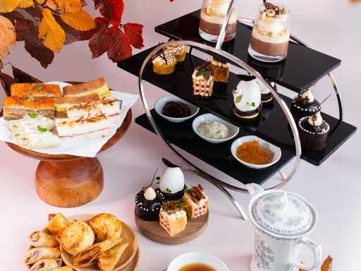 intercontinental hanoi autumn afternoon tea set