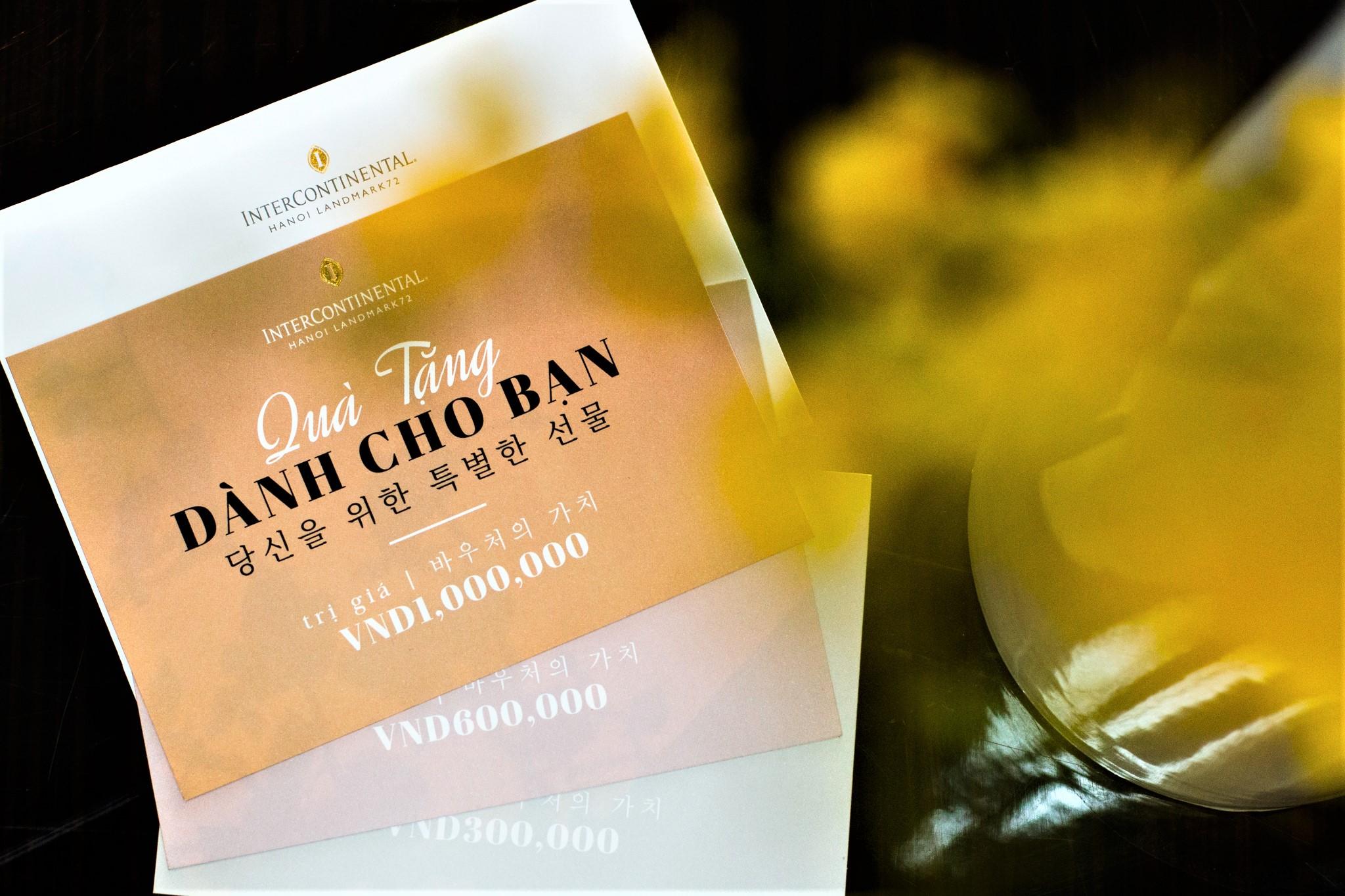 intercontinental hanoi voucher ẩm thực khách sạn