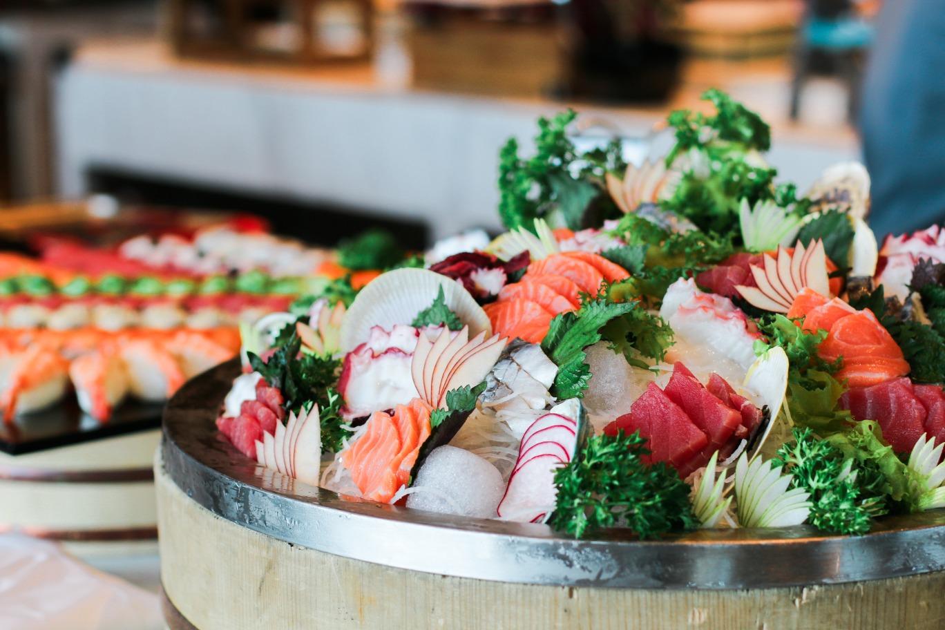intercontinental hanoi lunch buffet japanese sashimi