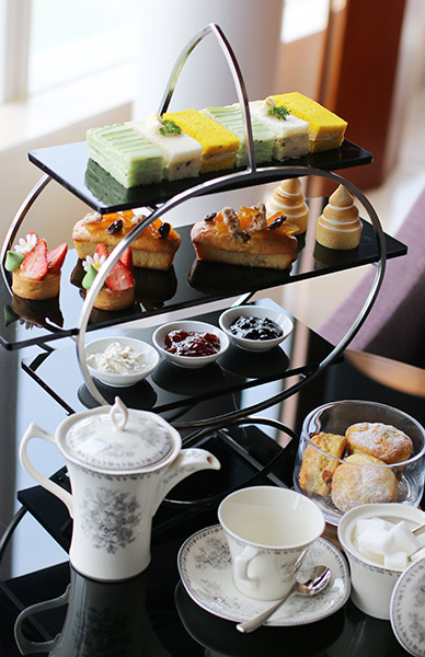 Hanoi city hotel's afternoon tea set