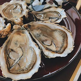 hàu tươi trong bữa buffet tại khách sạn ở Hà Nội