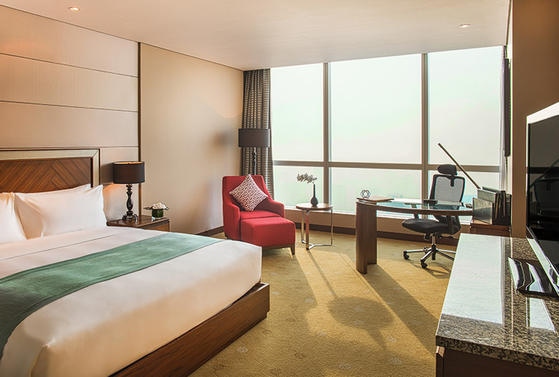 Hanoi city hotel's deluxe room