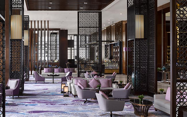 luxury hotel lobby lounge in Hanoi