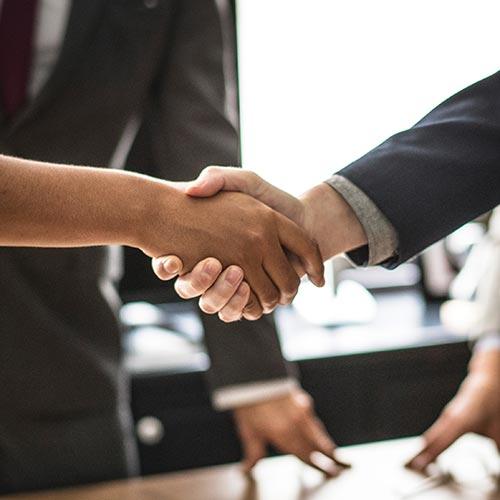 Hanoi hotel client hand shake