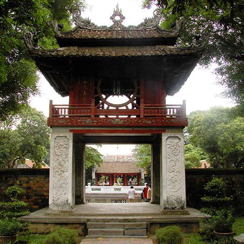 Temple of Literature near Hanoi business hotel