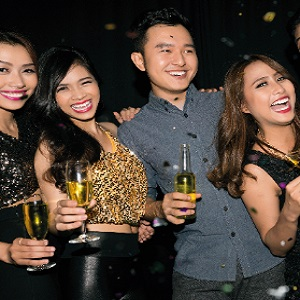 guests celebrating new year at hanoi luxury hotel