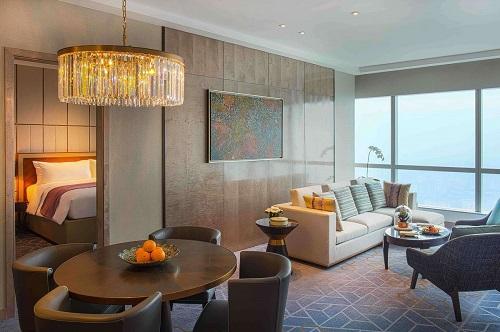 phòng khách sang trọng tại khách sạn intercontinental hanoi landmark72 5 sao cao nhất hà nội