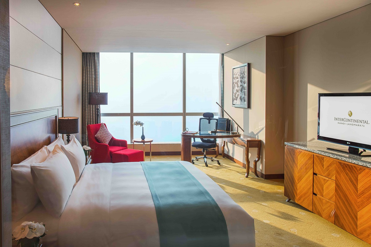 Luxurious accommodation with the Premier Rooms at InterContinental Hanoi Landmark72